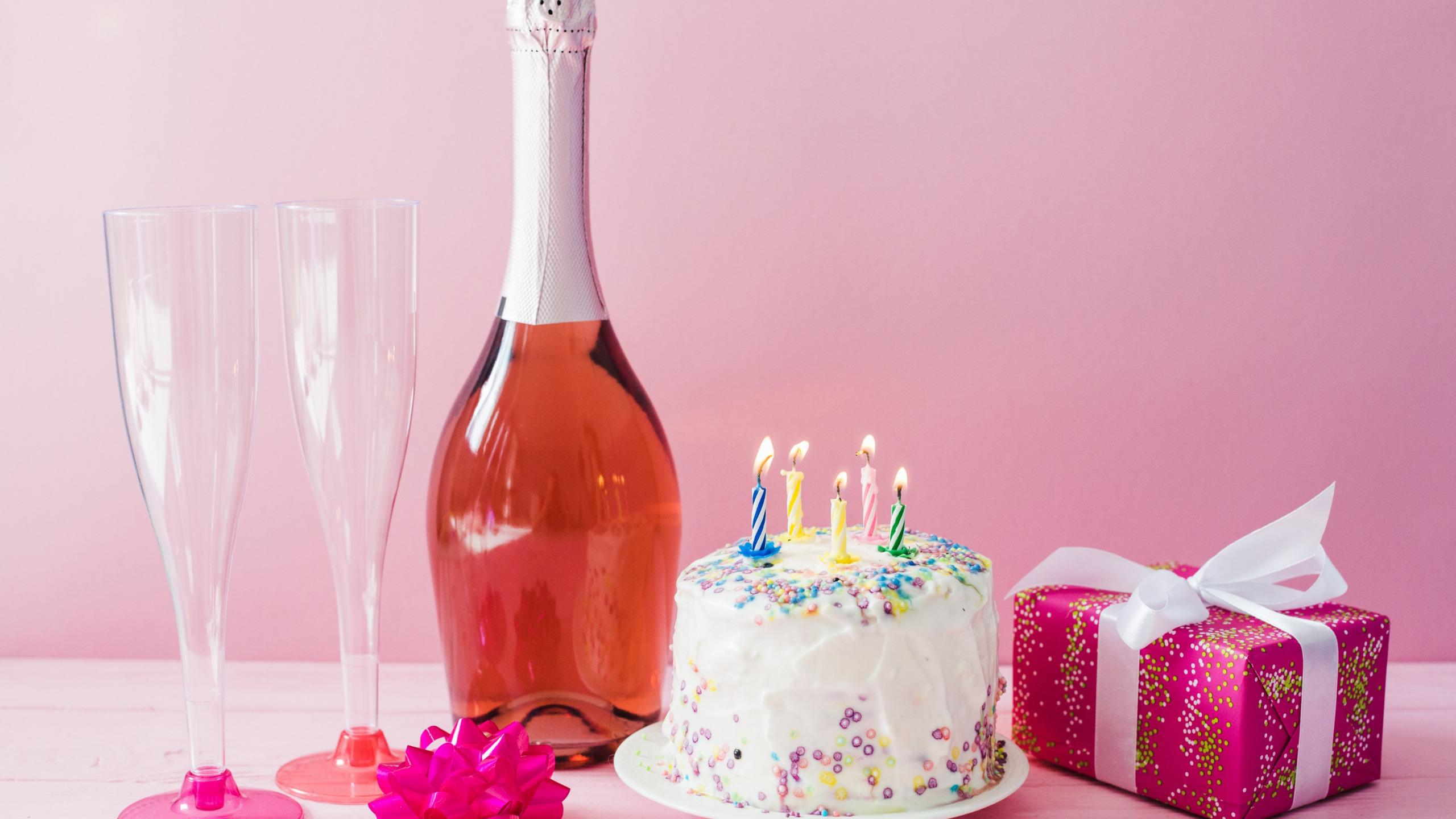 Картинки с шампанским и тортом