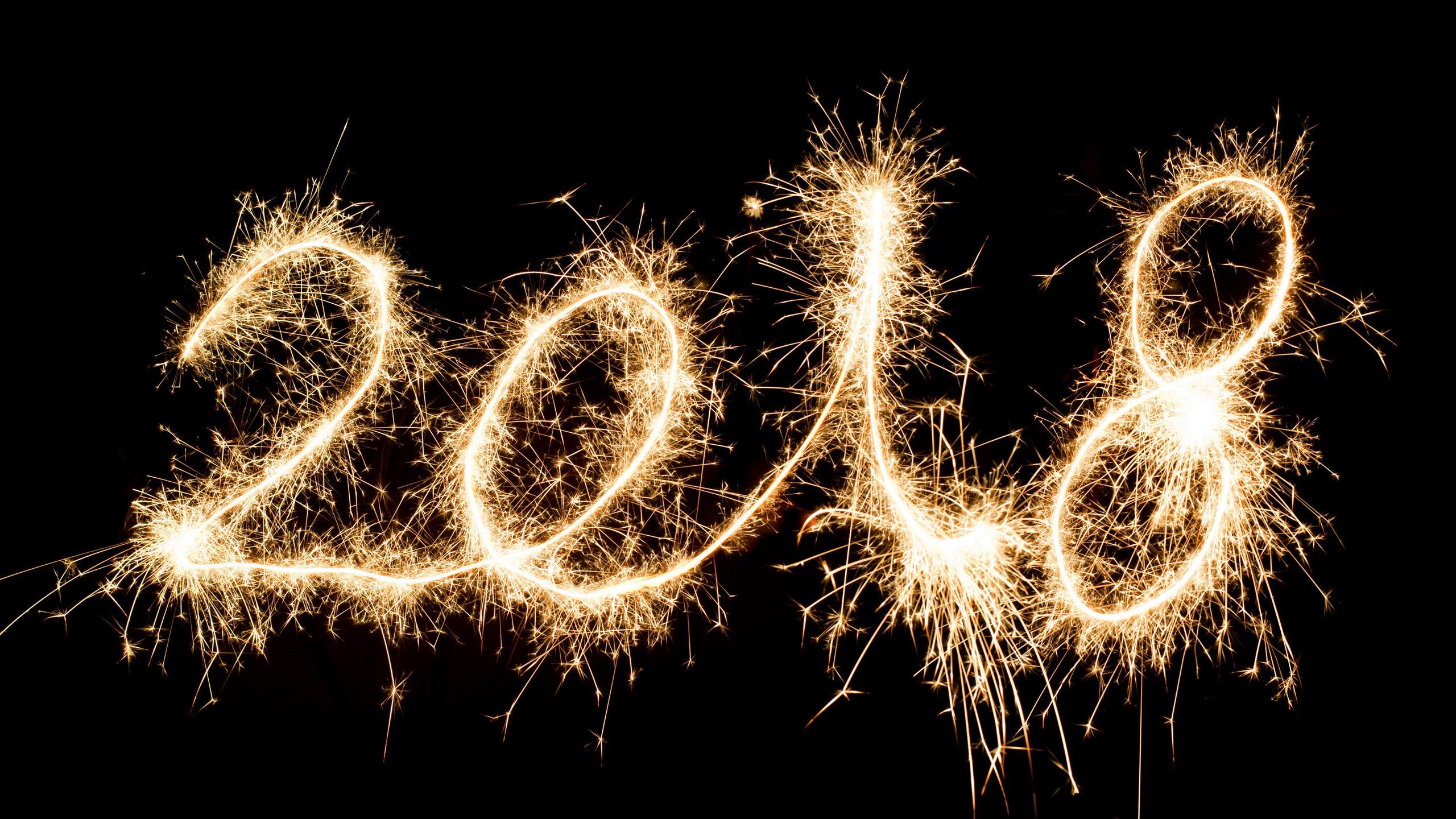 Картинка с надписью с новым годом 2018