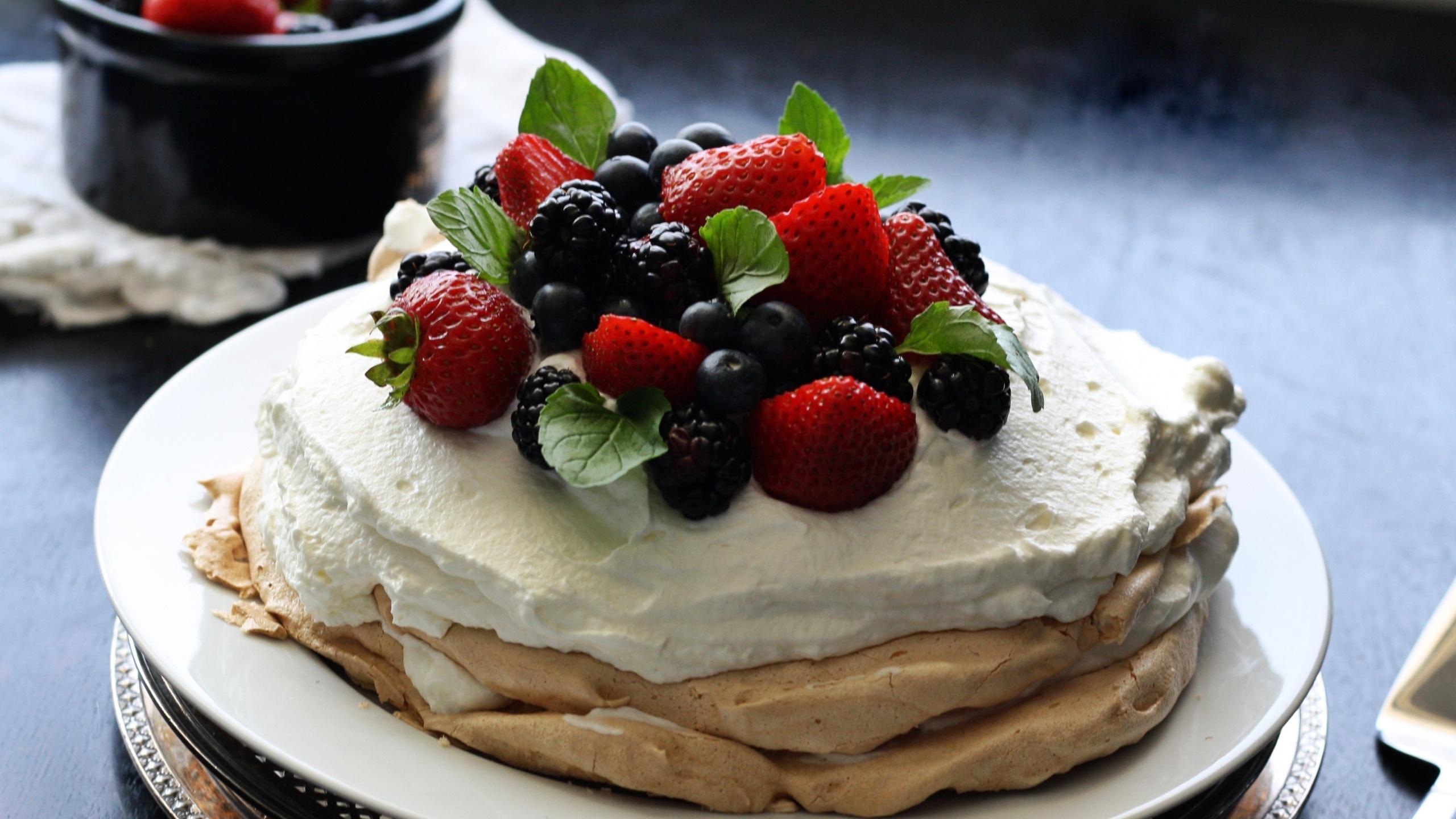 Торт павлова с заварным кремом