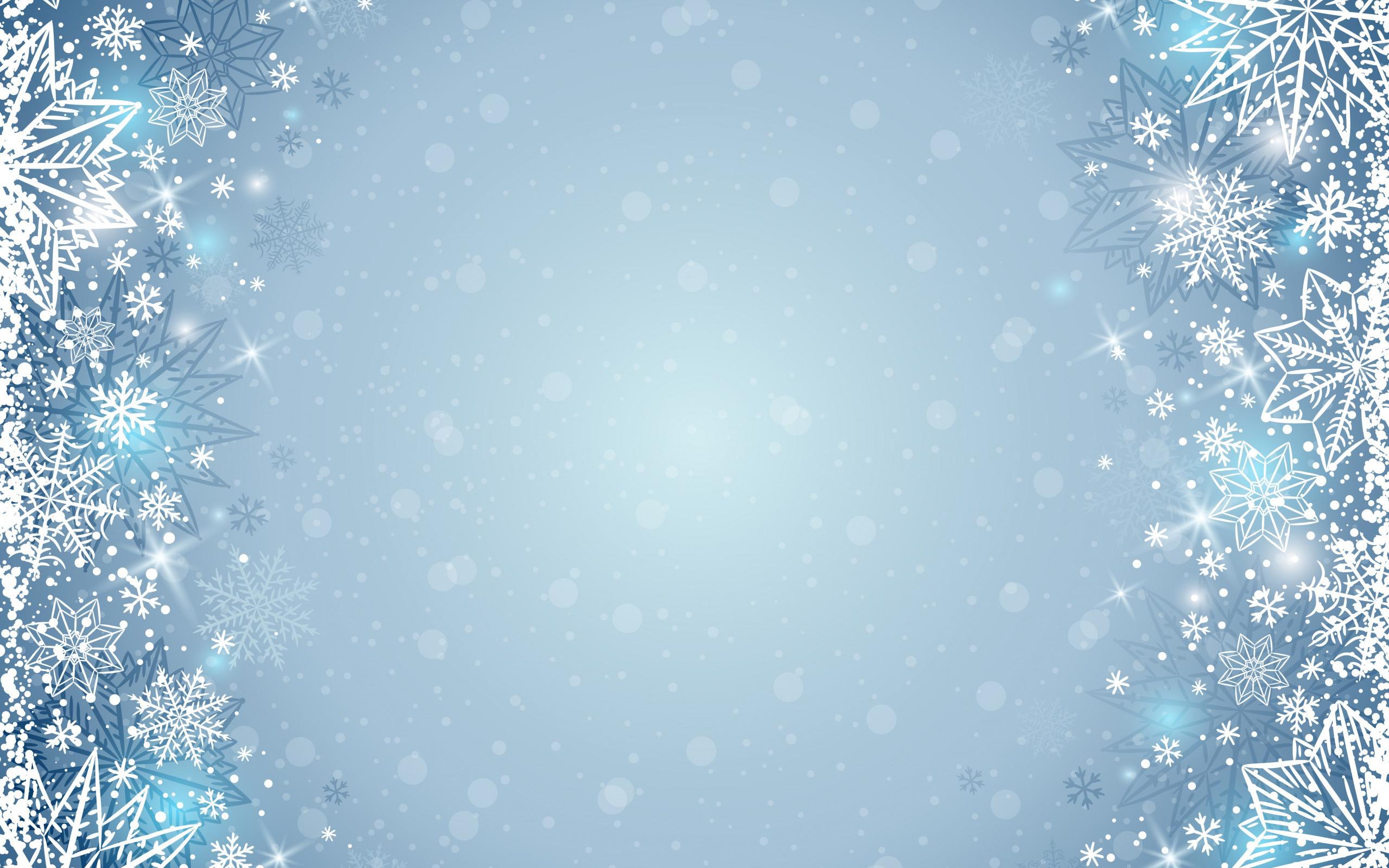 Картинки фон зима снежинки