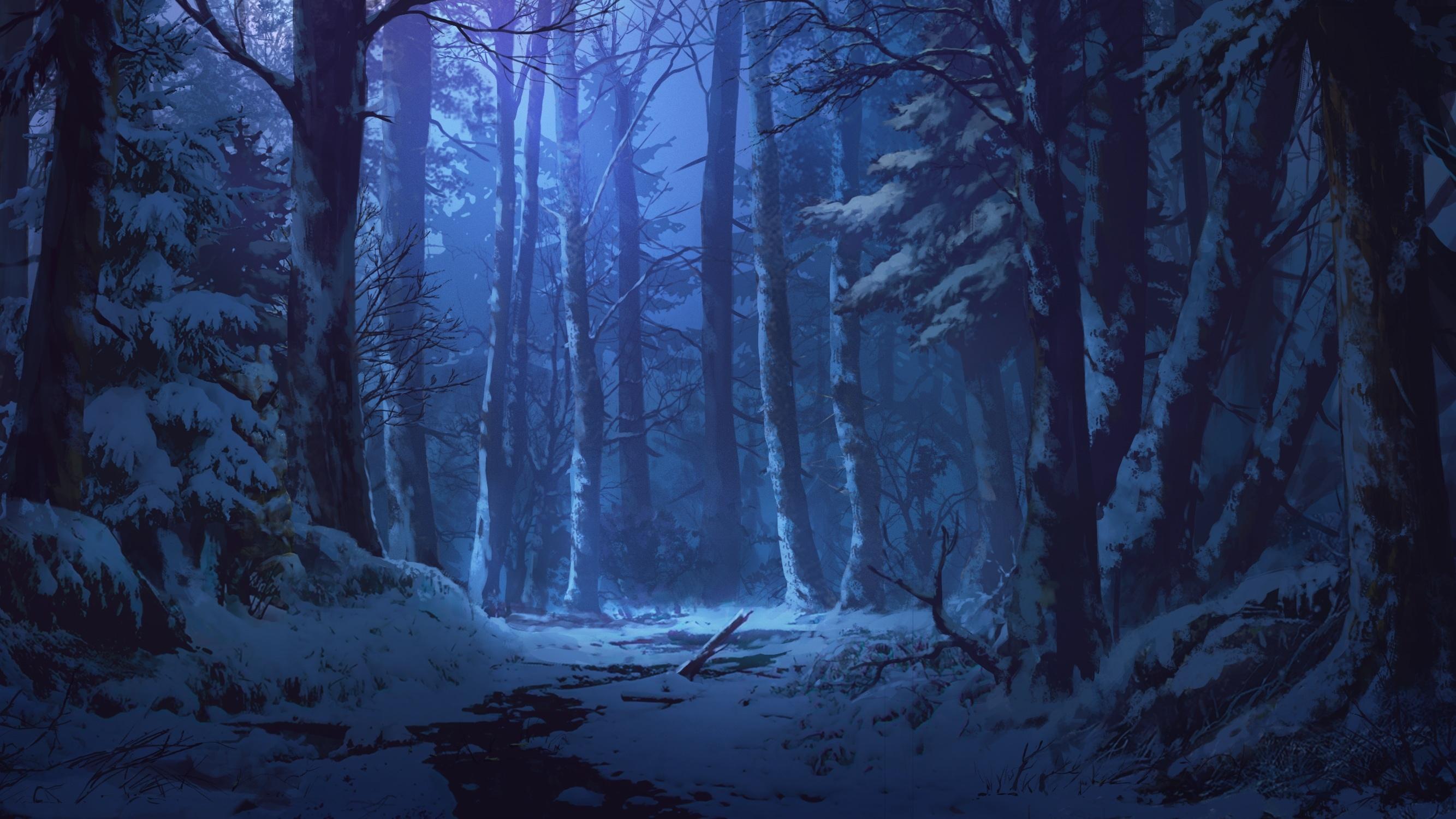 сексуальных обои на рабочий стол зимний лес ночью они проходят, поэтому