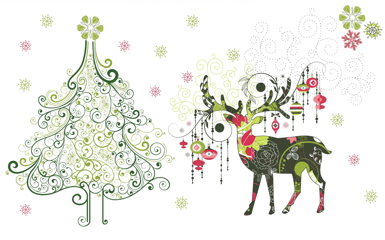 Модные открытки с новым годом