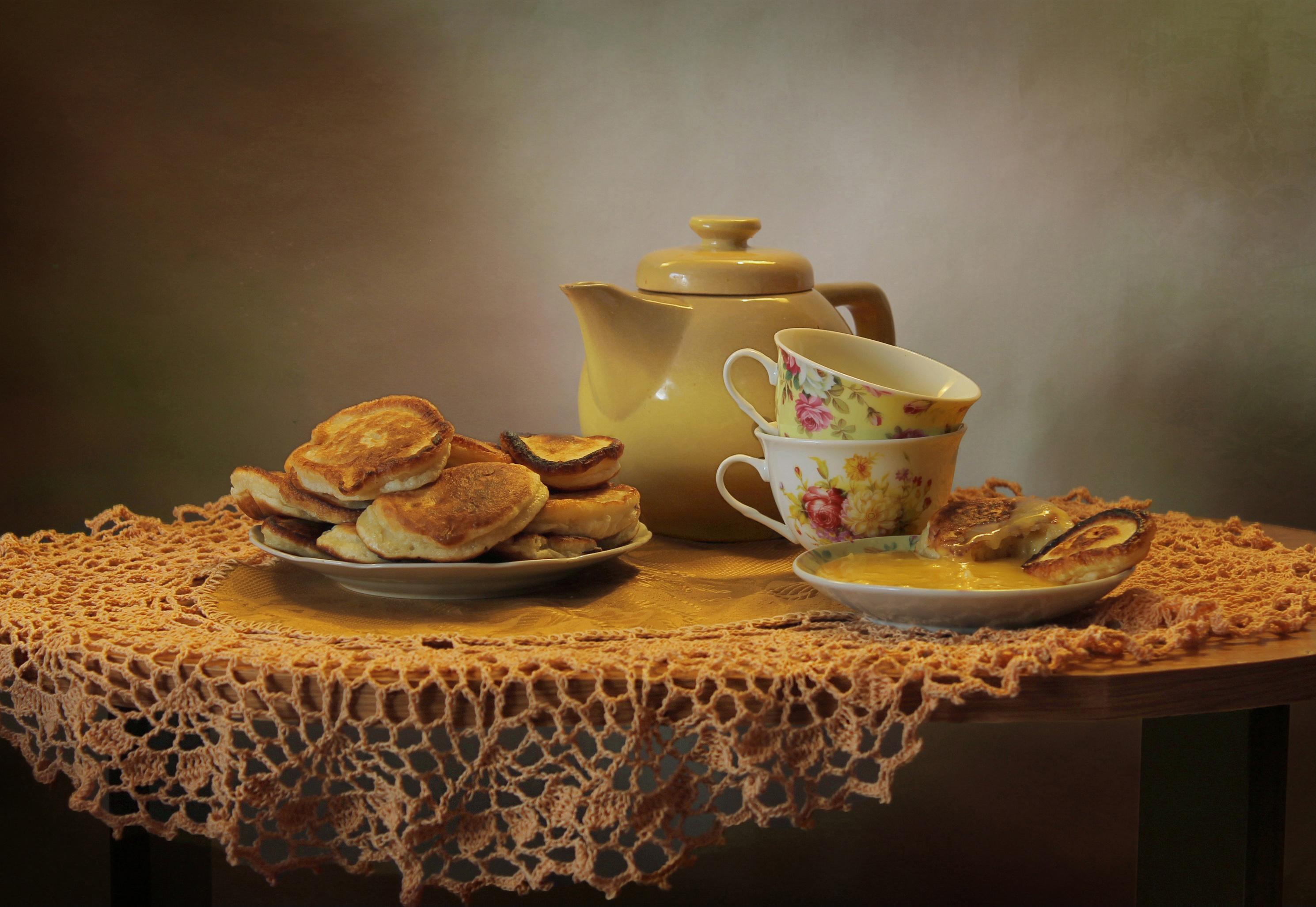 собрали чай с оладьями картинки какие них, могла