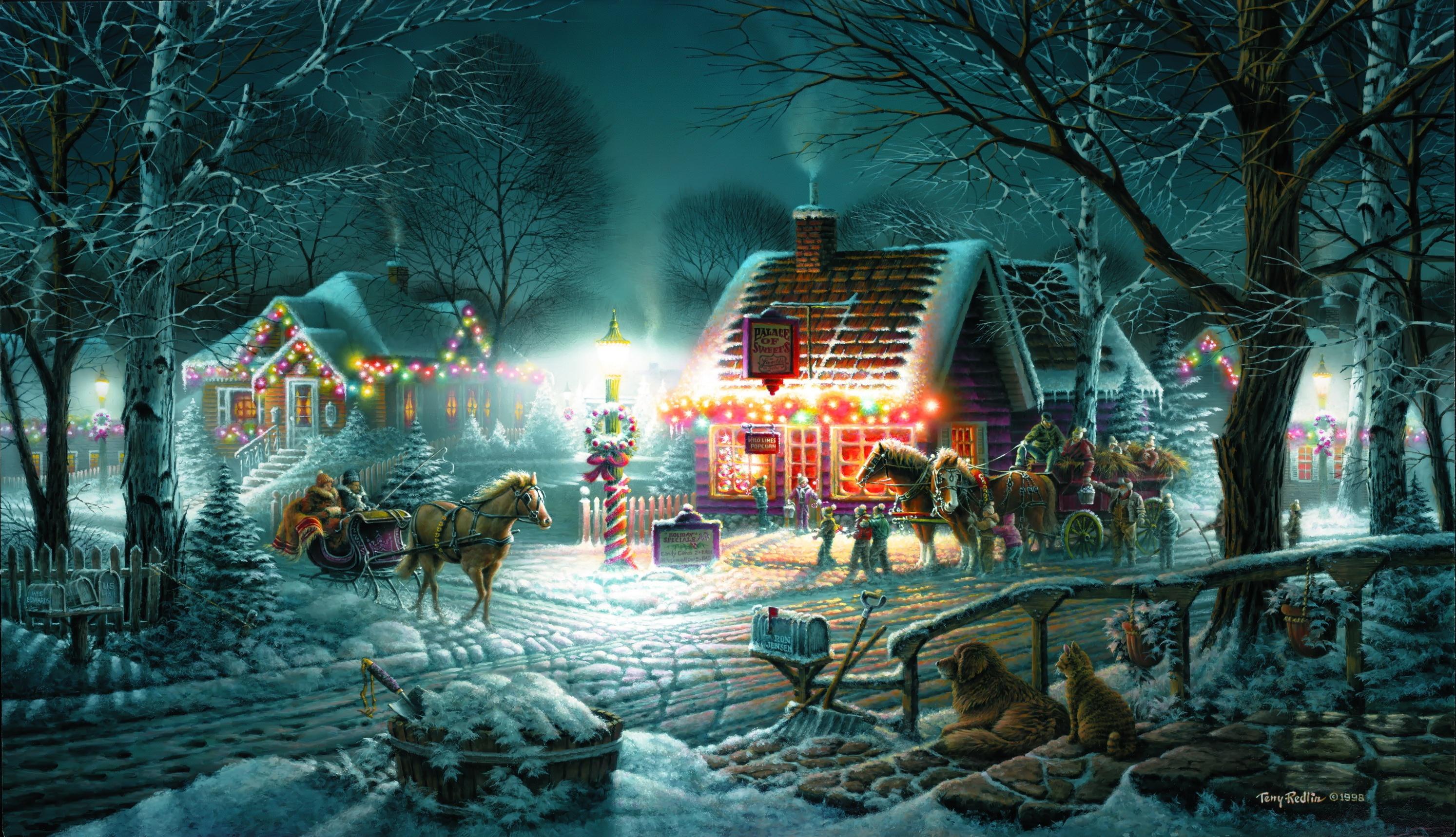 Сказочные Новогодние Обои На Рабочий Стол