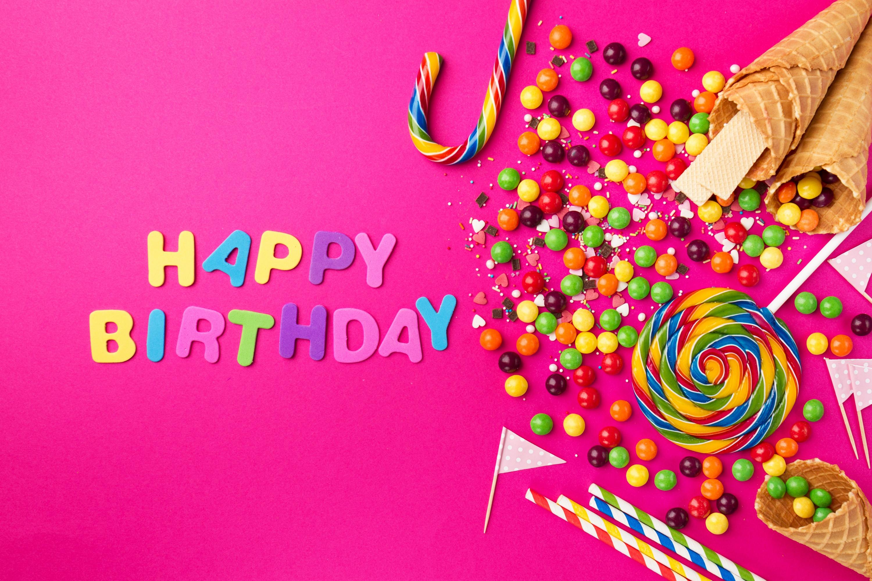 Открытка с днем рождения обои на рабочий стол, картинки для девочек