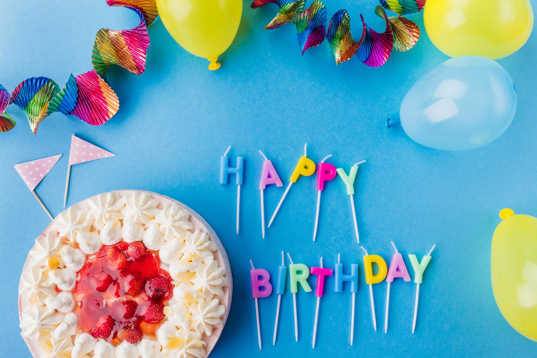 Картинка с днем рождения торт и шары, картинки