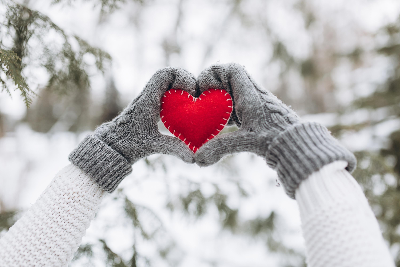 Букеты, открытки зима любовь