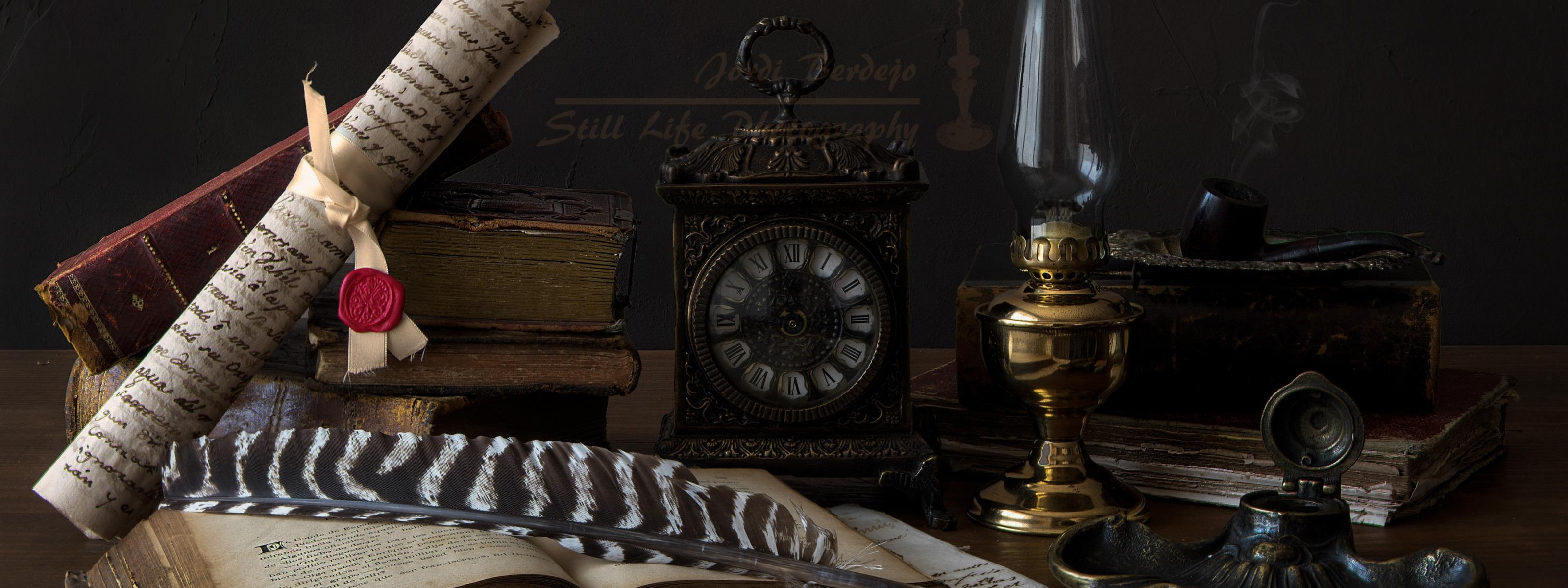 Картинки часы и перо