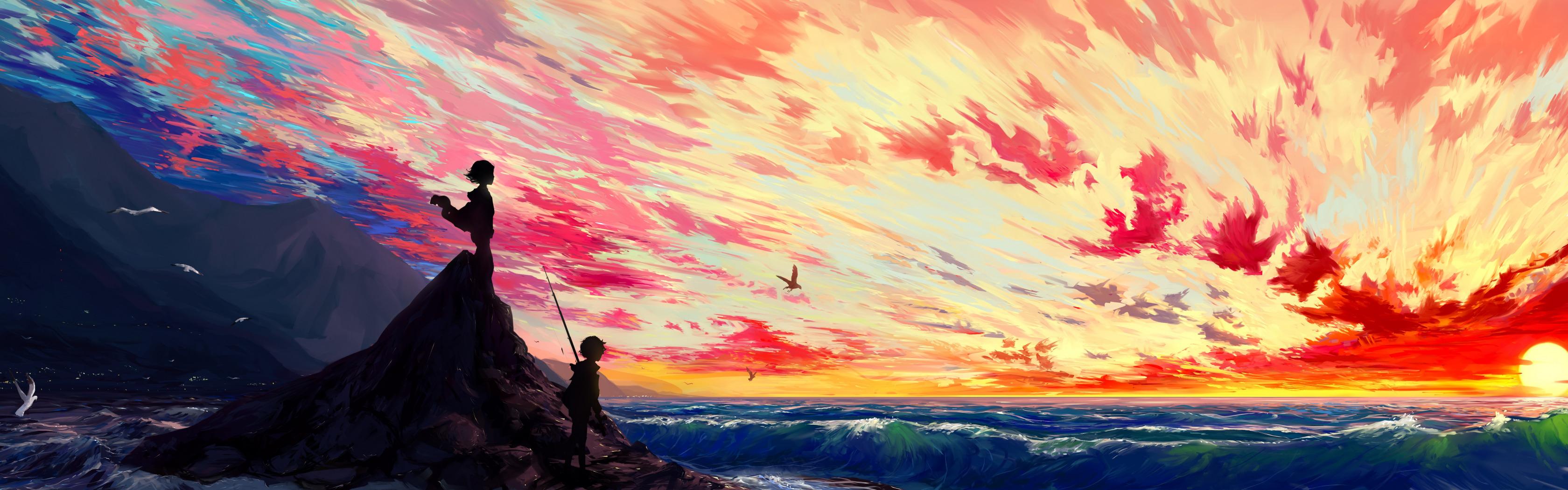 https://img4.goodfon.ru/original/3360x1050/8/c7/nebo-oblaka-zakat-anime-malchik-art-devochka-hangmoon-ostrov.jpg