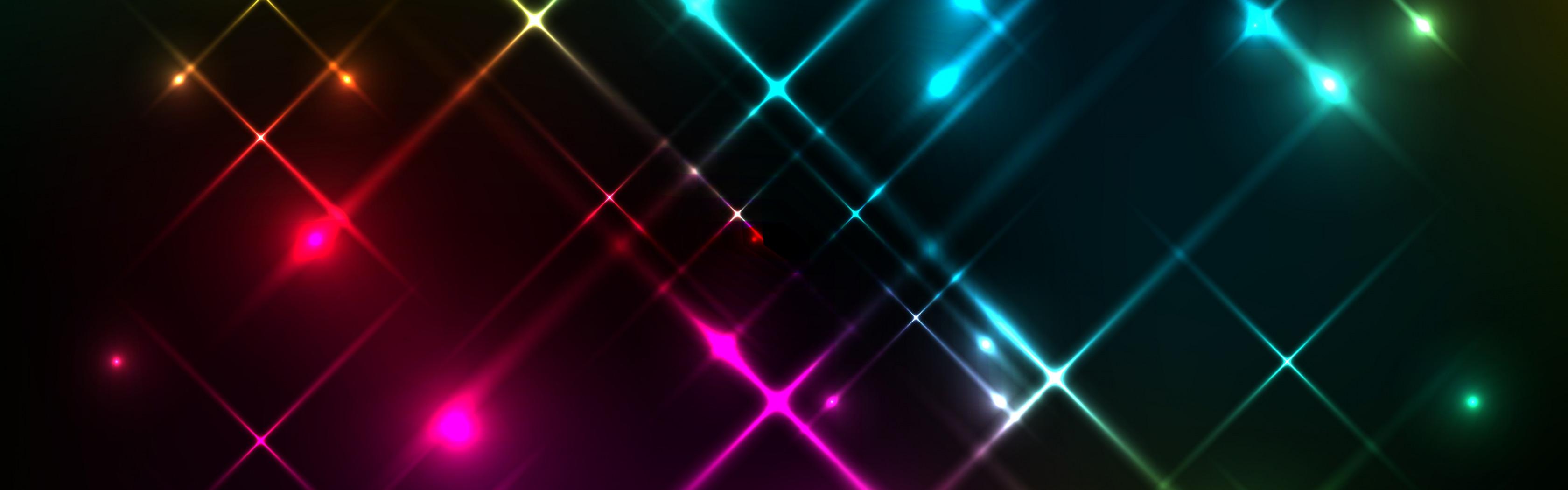Обои неоновый, Abstract, rainbow, lights, colors, background. Абстракции foto 12