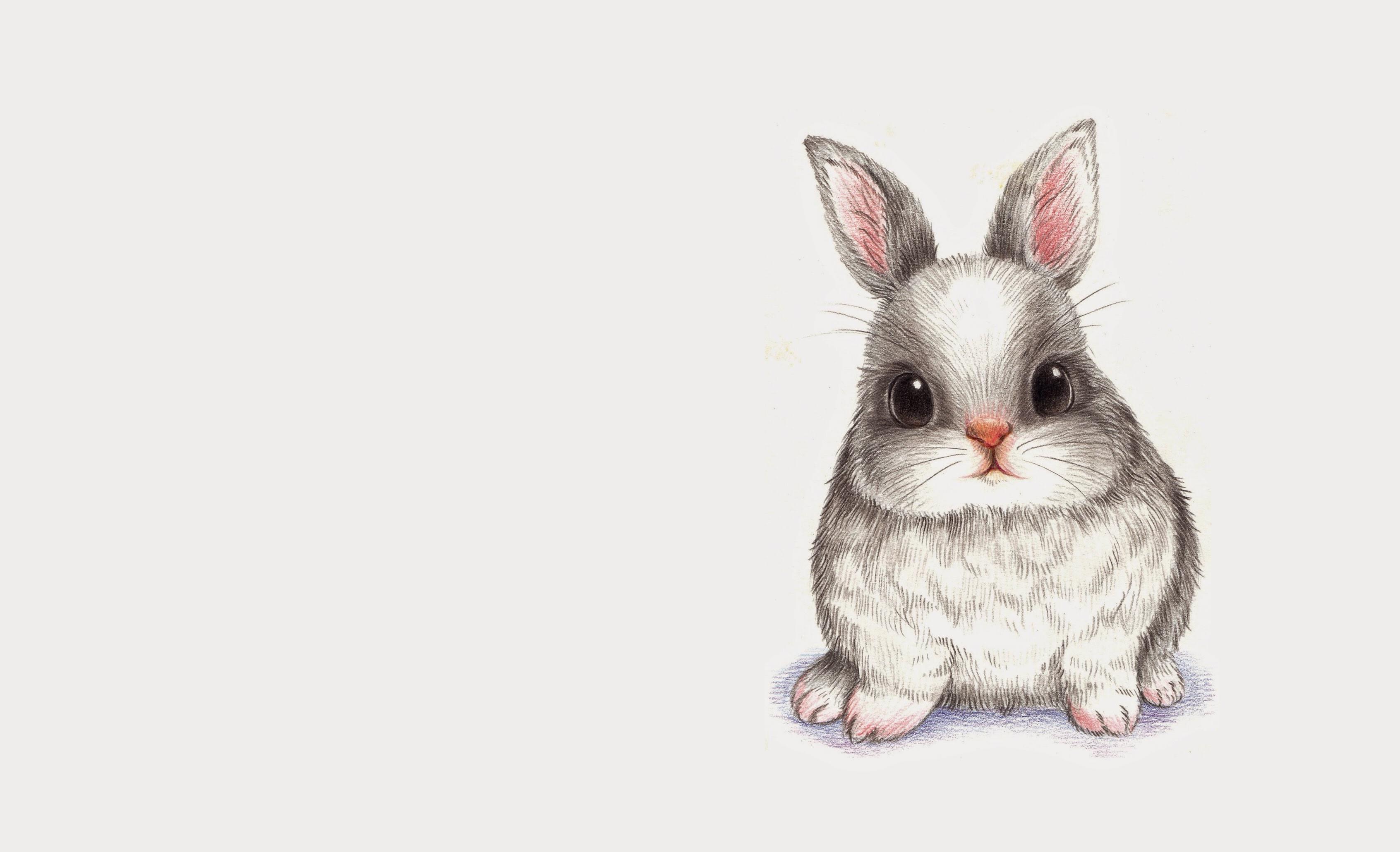 Картинка кролик нарисованная для детей