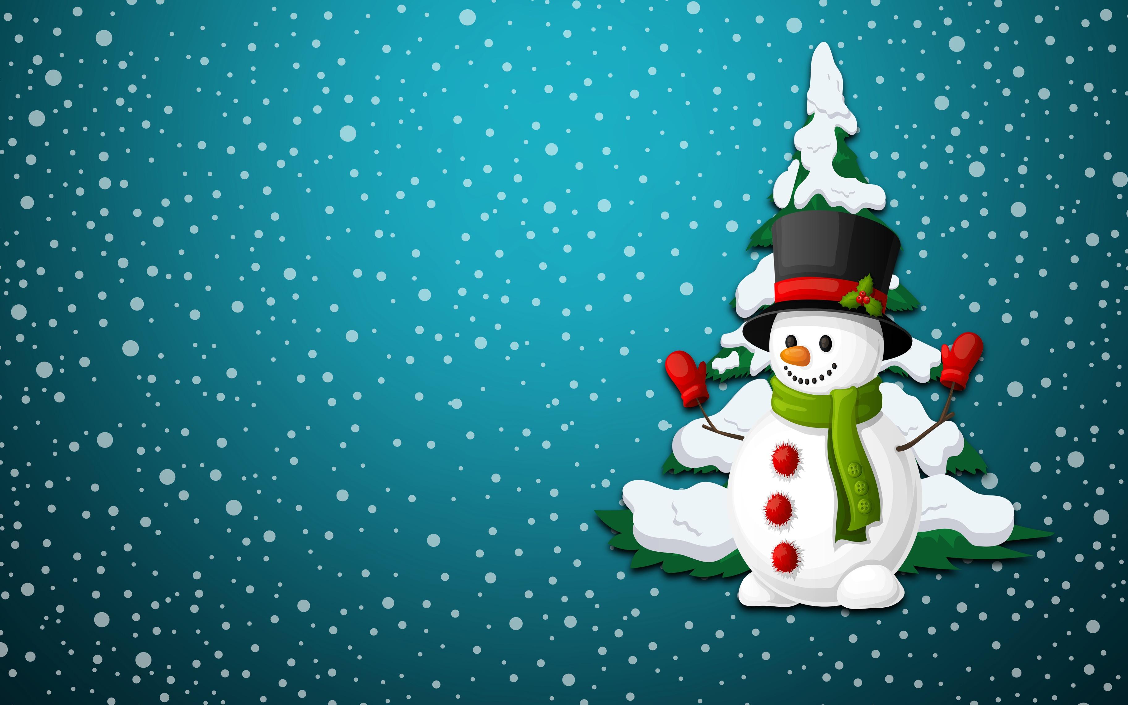 Своими руками, новогодние открытки снеговик и елка