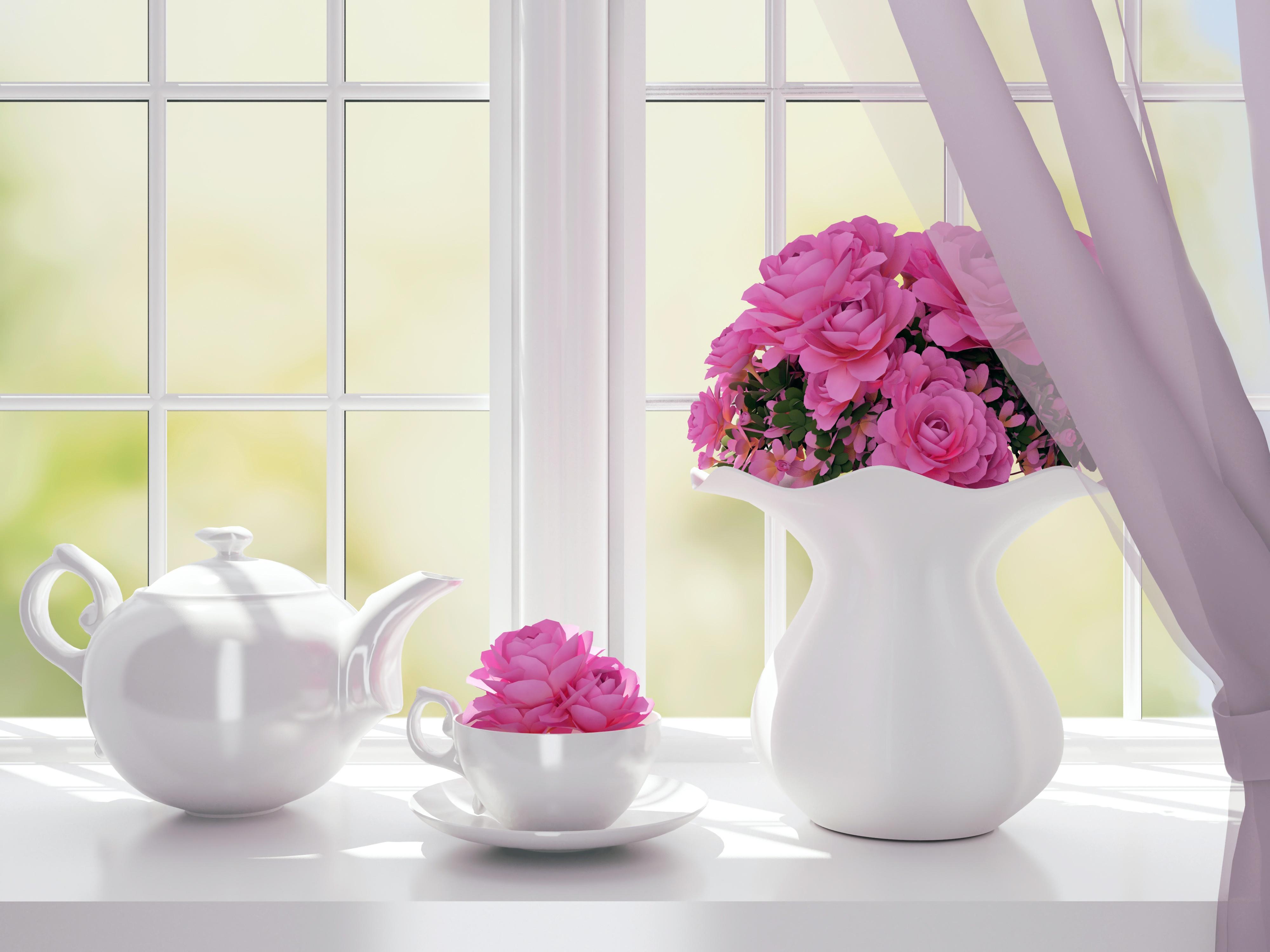 Открытки стол с вазой и цветами у окна, своими руками 2018