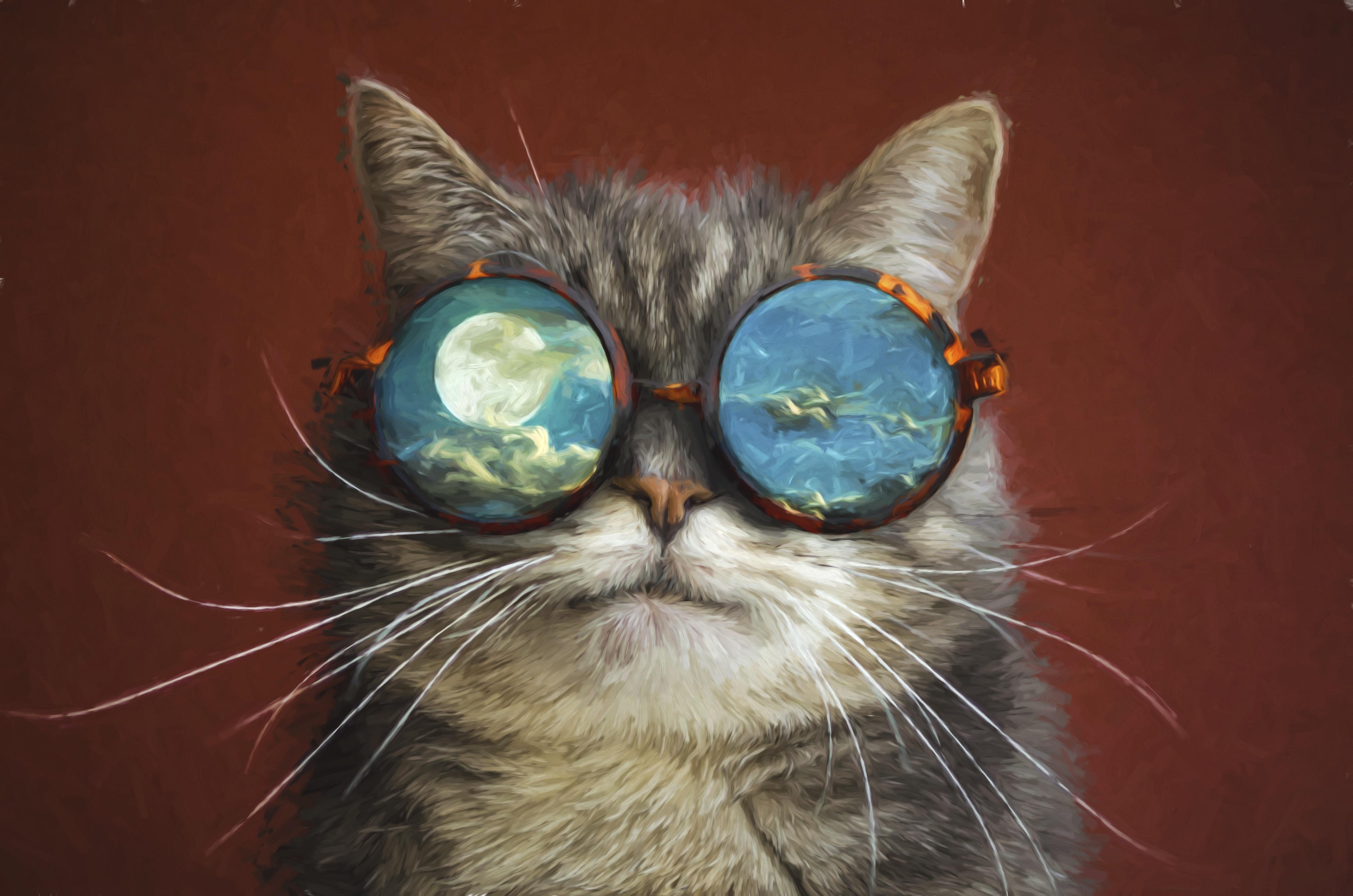 Открытки с очками прикольные, марта женщинам