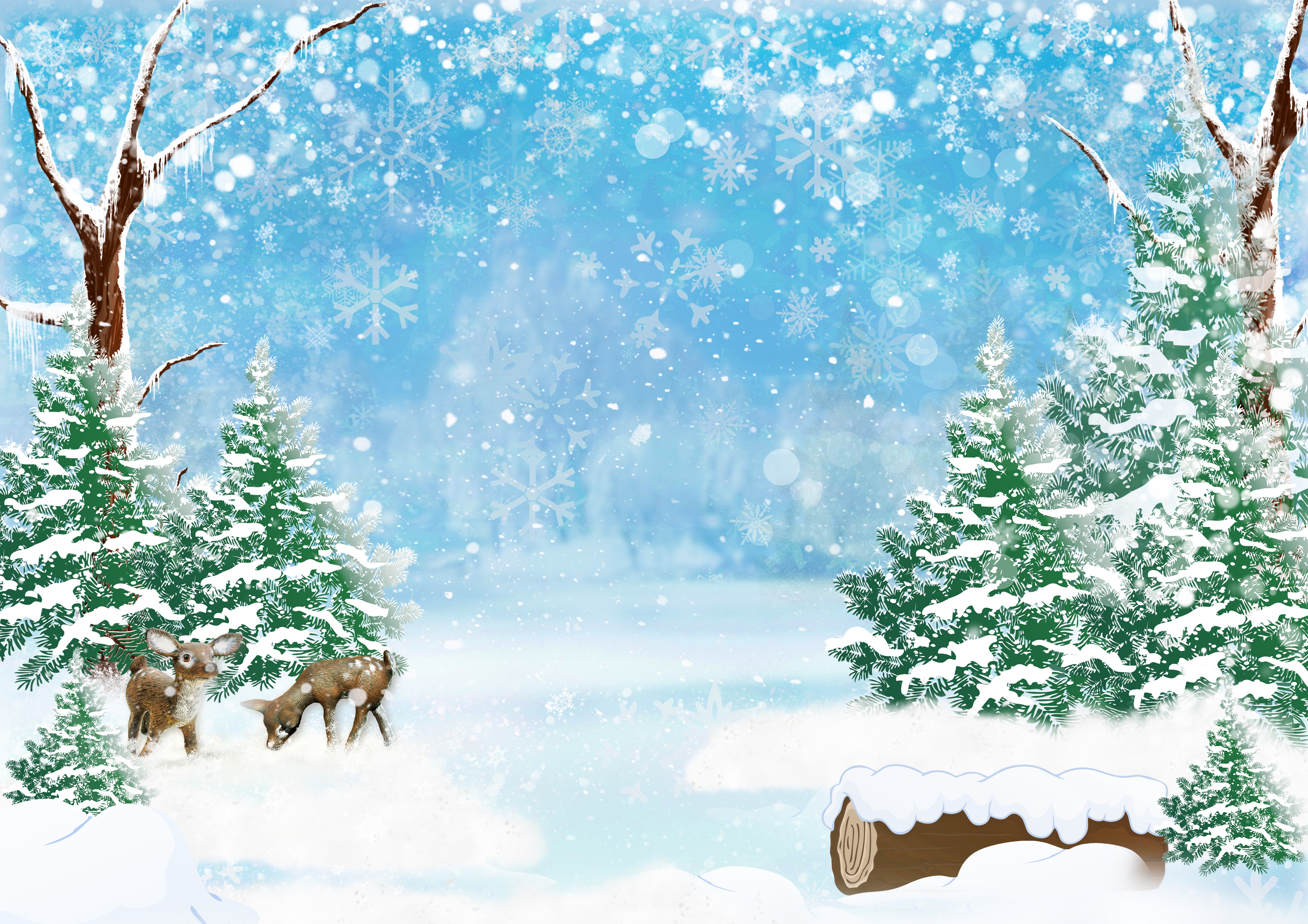 кутуньо шаблоны к новому году зимний сказочный лес тату