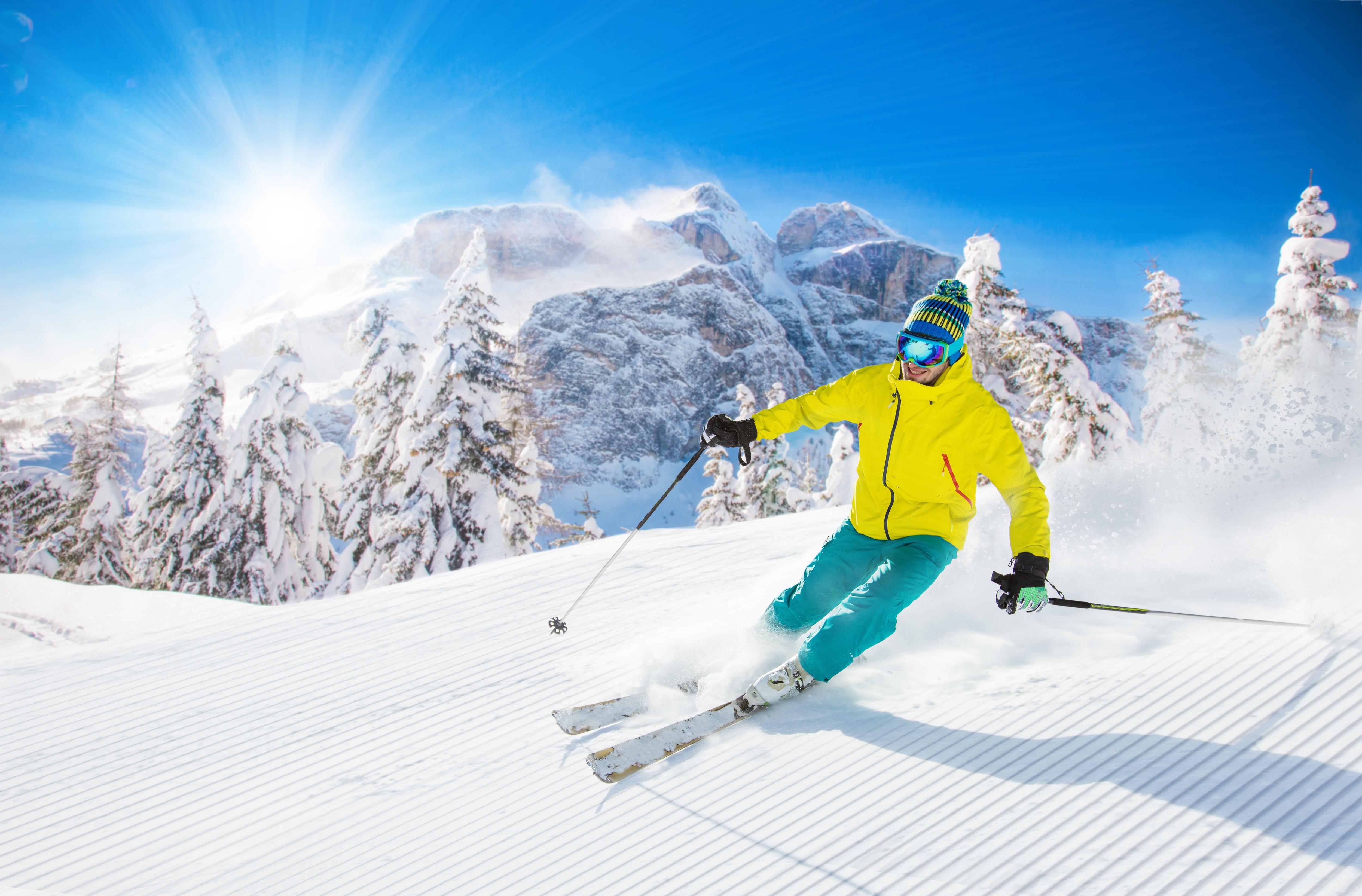 Семилетие свадьбы, картинки с лыжами и лыжниками