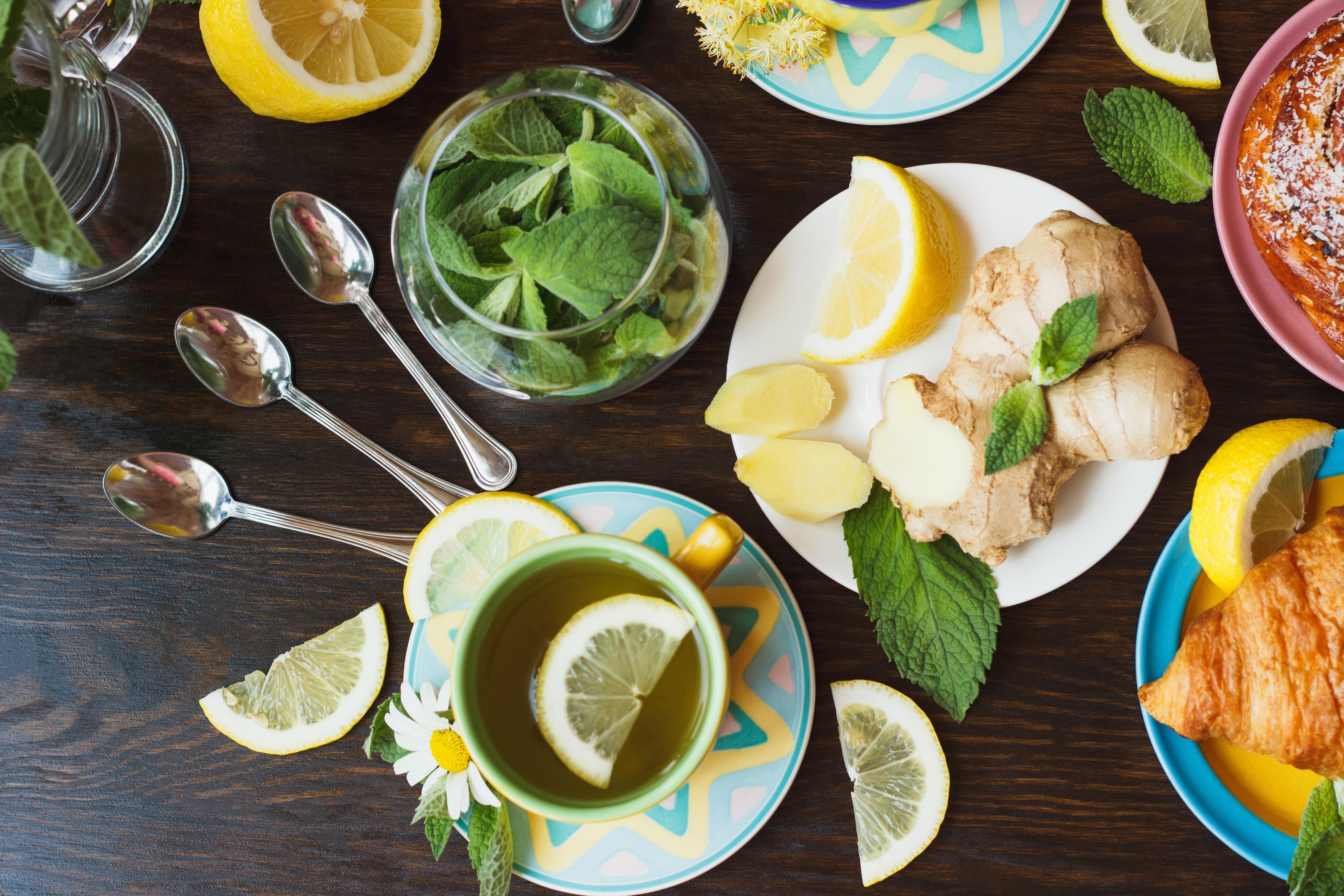 еда чай лимон мята eda tea lemon flicking  № 676114  скачать