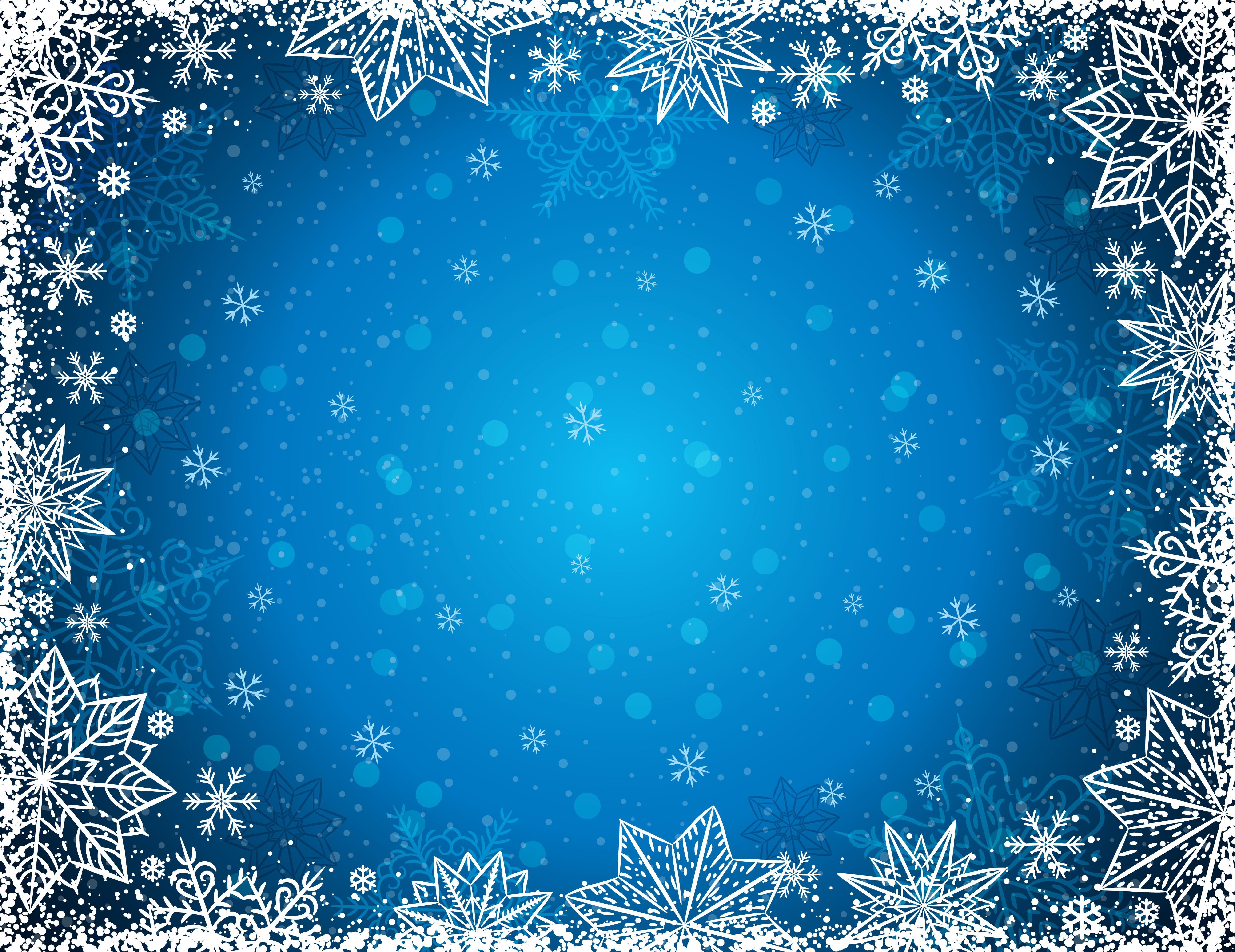 Зимняя открытка в фотошопе, рождеством