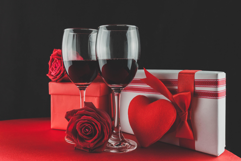 Два бокала с розами  № 750329  скачать