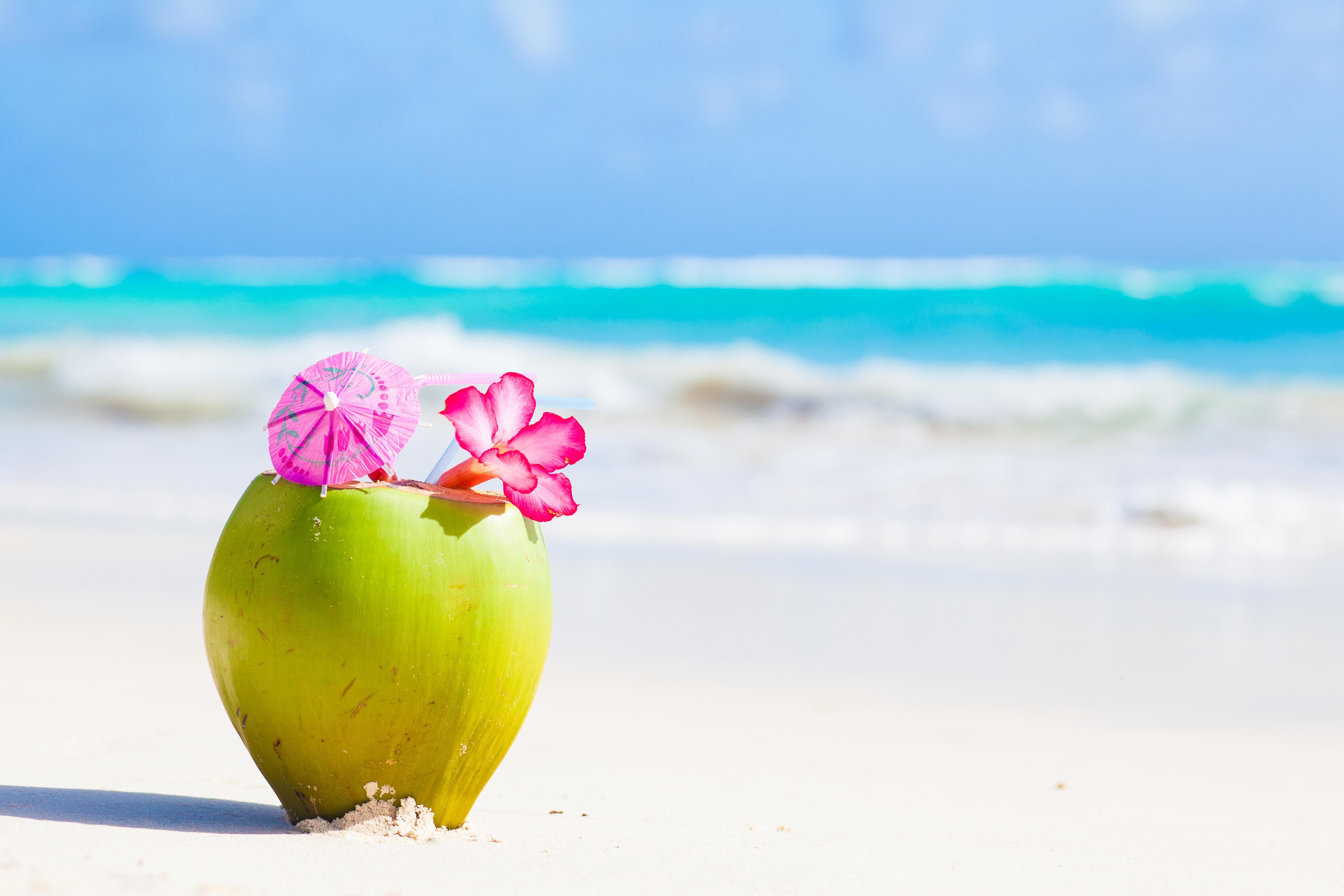 Фото пляжа с цветами