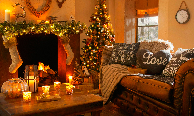 Уютная зимняя картинка на рабочий стол