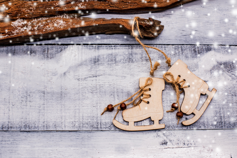 Картинка зима коньки