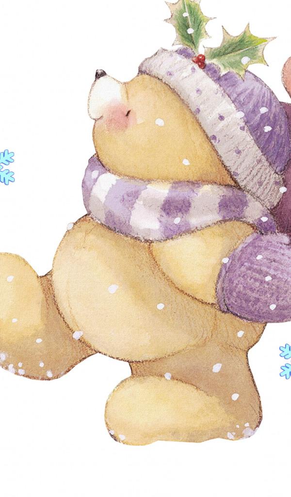 Открытки друзьям мишки с мороженым анимация
