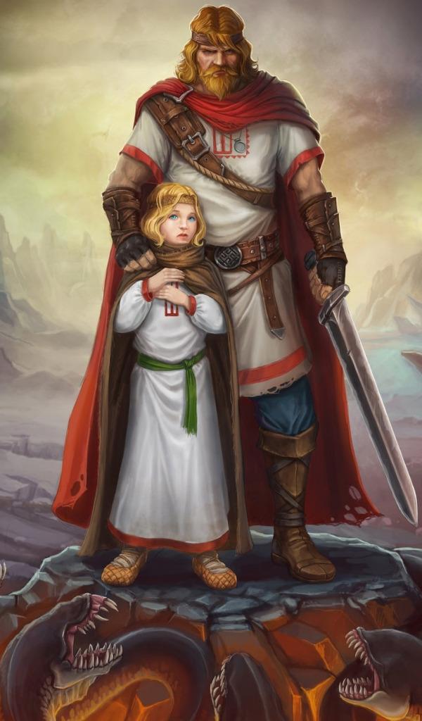 Картинки богатырь и девушка