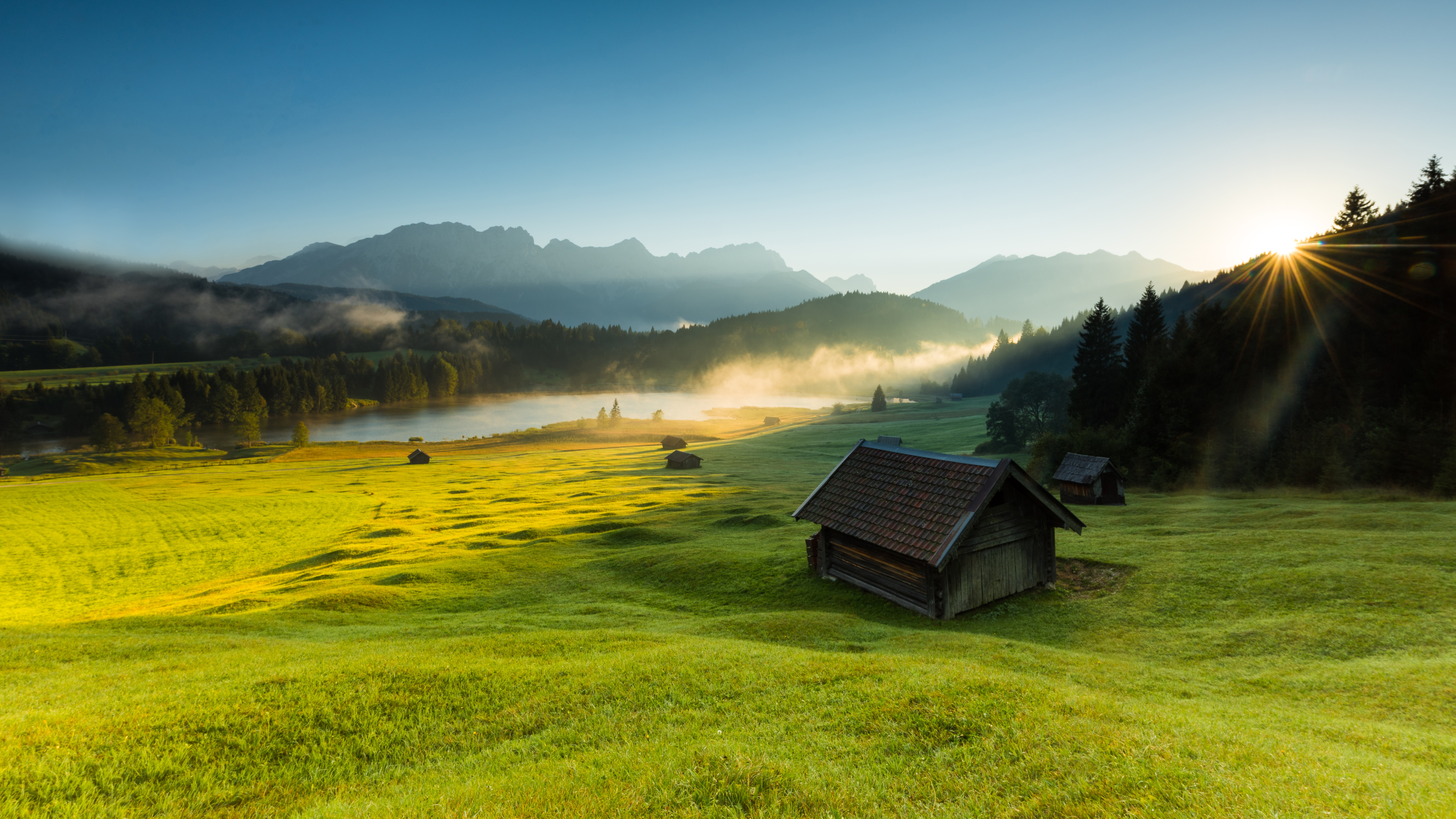 домики, горы, трава  № 307755 загрузить