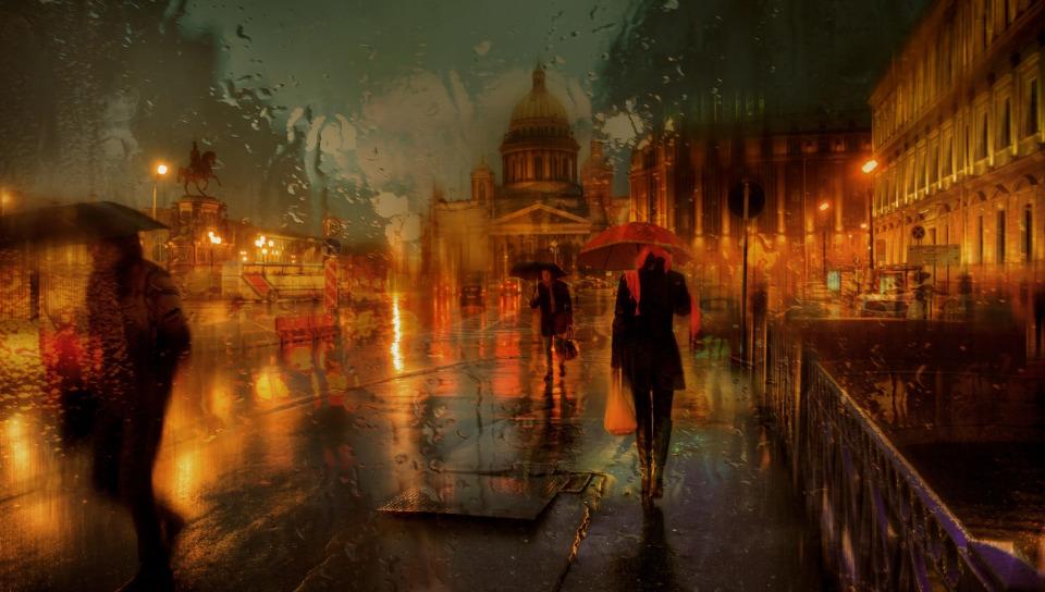 сделать дождь в городе обои и картинки группе