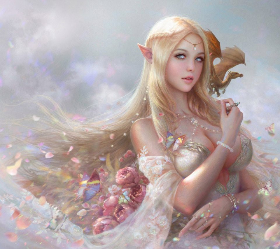 Эльфы девушки фэнтези картинки