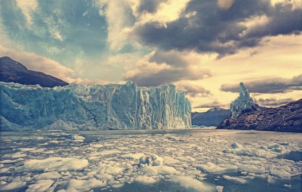 Картинка небо, вода, лёд, ледник, Argentina, Аргентина, Patagonia, Патагония, Perito Moreno Glacier, Los Glaciares National Park, …