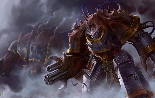 Картинка warhammer, chaos, art, Warhammer 40k, Iron Warrior Obliterator