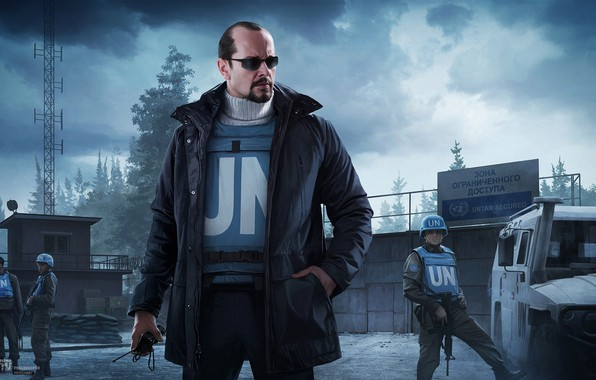 Картинка солдаты, ООН, Escape from Tarkov, EFT, Peacekeeper, Миротворец, Ivan Vilmont, Побег из Таркова, Торговец, r.2028, …