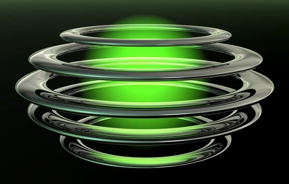Картинка фон, шар, кольца, сфера