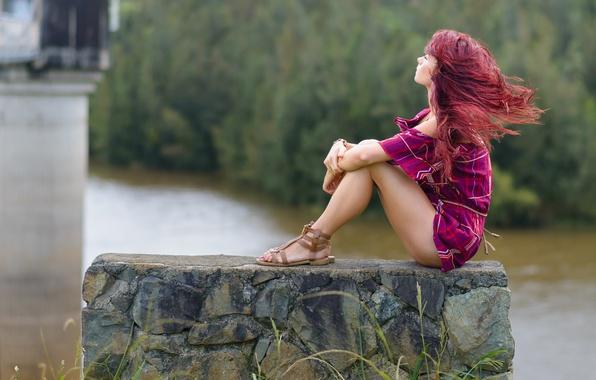 Картинка ветер, волосы, Roisin Neville
