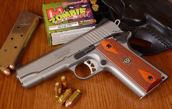 Картинка пистолет, оружие, gun, pistol, weapon, M1911, 1911, Ruger, М1911, Ругер