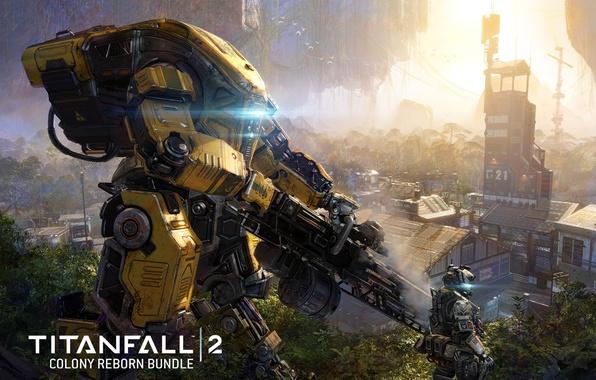 Картинка gun, game, robot, mecha, weapon, Titanfall, Titan, Titanfall 2, Colony Reborn Dlc