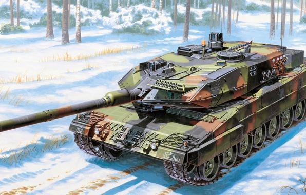 Картинка Leopard, Леопард 2А6, немецкий основной боевой танк