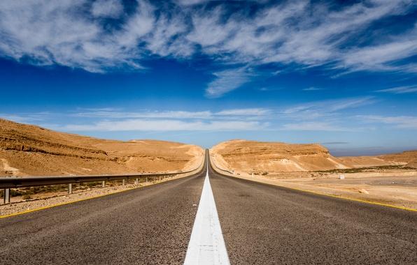 Картинка дорога, небо, перспектива