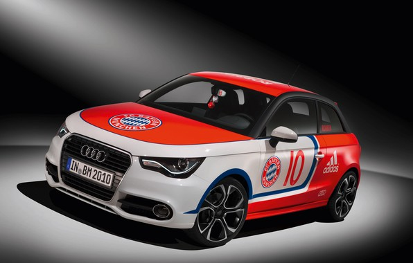 Картинка car, wallpaper, sport, logo, football, FC Bayern Munchen, Audi A1