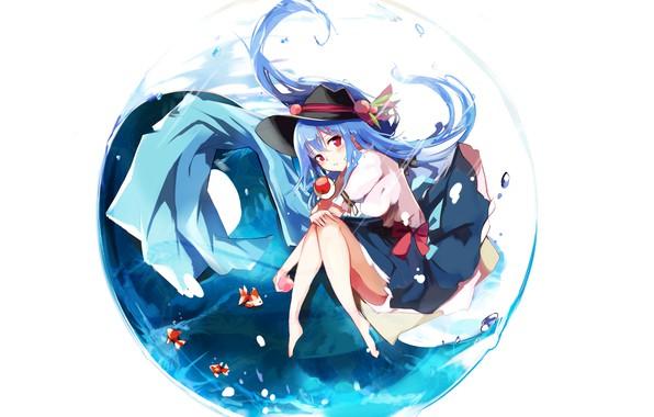Картинка Вода, Рыбки, Девочка, Тохо, Тоухоу