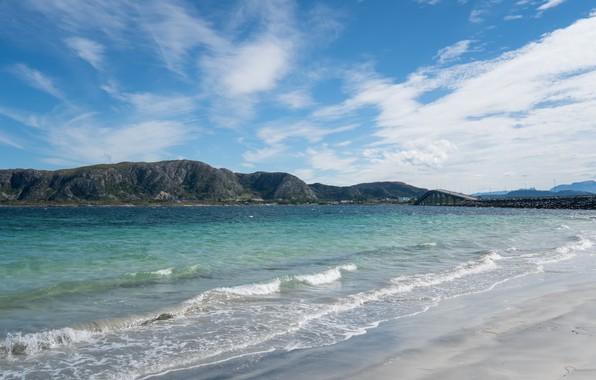 Картинка песок, море, волны, пляж, лето, summer, beach, sea, sand, wave