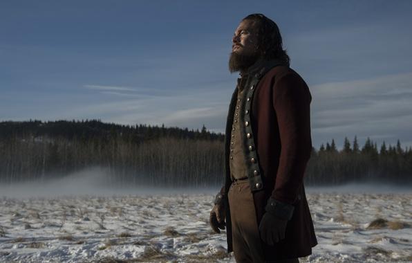Картинка снег, фильм, актер, snow, леонардо дикаприо, leonardo dicaprio, выживший, the revenant