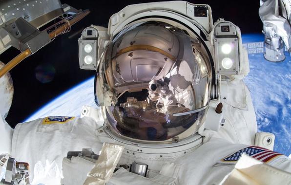 Фото обои США, МКС, астронавт, НАСА, Терри Уэйн Вёртс