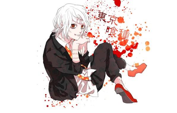Картинка пятна, красные глаза, безумие, шрамы, Tokyo Ghoul, Juuzou Suzuya, Токийский Монстр, адская ухмылка, капли крови, …