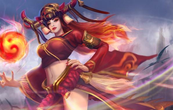 Картинка девушка, hon, art, Heroes of Newerth, Tarot, Onmyoji Tarot
