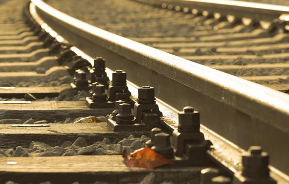 Картинка фон, железная дорога, шпалы