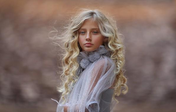 Картинка портрет, девочка, кудряшки, Katie Andelman