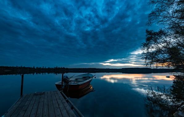 Картинка озеро, Швеция, Sweden, Ostergotland, Lake Drögen